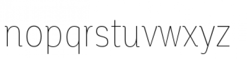Corporative Condensed Hair Font LOWERCASE