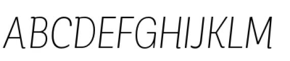 Corporative Condensed Light Italic Font UPPERCASE