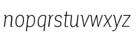 Corporative Condensed Light Italic Font LOWERCASE