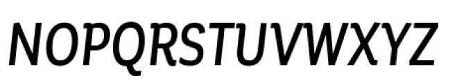 Corporative Condensed Medium Italic Font UPPERCASE