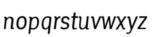 Corporative Condensed Regular Italic Font LOWERCASE