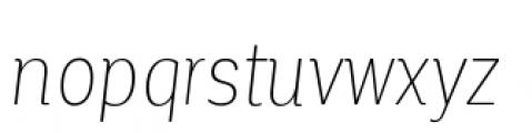 Corporative Condensed Thin Italic Font LOWERCASE