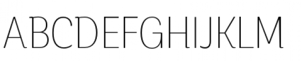 Corporative Condensed Thin Font UPPERCASE