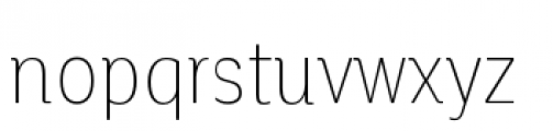 Corporative Condensed Thin Font LOWERCASE