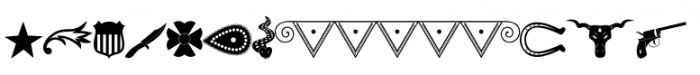 Cowboy Stories Drawings Font LOWERCASE
