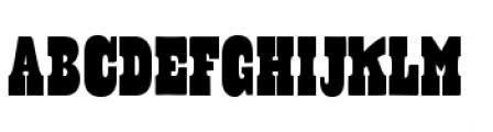 Cowboyslang Condensed Font UPPERCASE