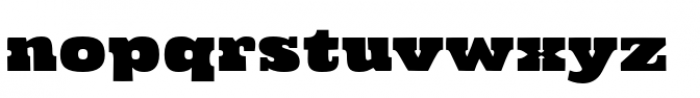 Cowboyslang Expanded Font LOWERCASE