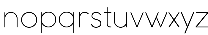 COCOMAT UltraLight Font LOWERCASE