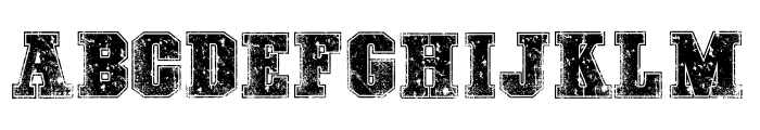 COLLEGE FREAKS DISTORTED DEMO Font UPPERCASE