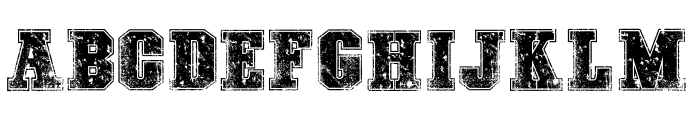COLLEGE FREAKS DISTORTED DEMO Font LOWERCASE