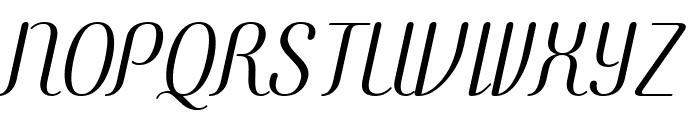 COM4t Ascripta Oblique Font UPPERCASE