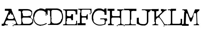 COURIERTXT Font UPPERCASE