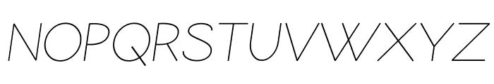Coamei Light-Italic Font UPPERCASE