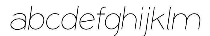 Coamei Light-Italic Font LOWERCASE