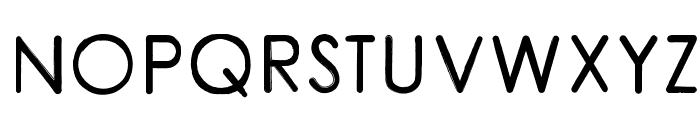 CoarseRounded Font UPPERCASE