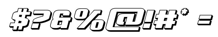 Cobalt Alien 3D Italic Font OTHER CHARS