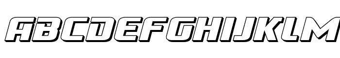 Cobalt Alien 3D Italic Font UPPERCASE