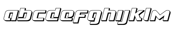Cobalt Alien 3D Italic Font LOWERCASE