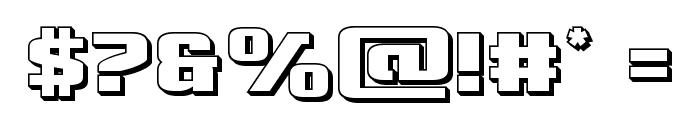 Cobalt Alien 3D Font OTHER CHARS