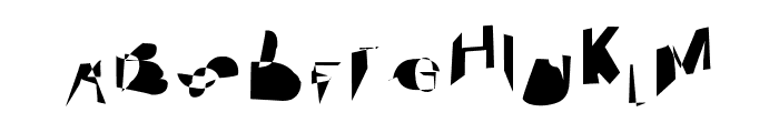 Cobalt Extended Font UPPERCASE