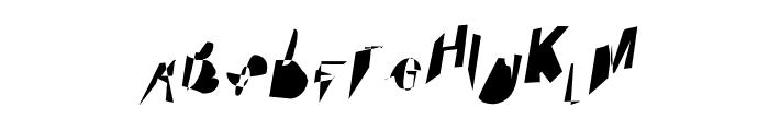 Cobalt SuperCondensed Oblique Font UPPERCASE