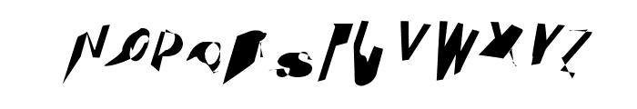 Cobalt SuperOblique Font UPPERCASE