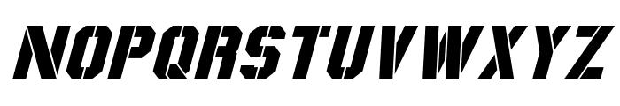 Coburn Italic Font UPPERCASE