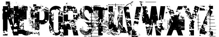 Cocain Nosejob Font UPPERCASE