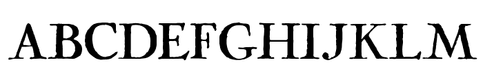 Cock Font UPPERCASE