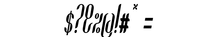 Coco-BoldCondensedItalic Font OTHER CHARS