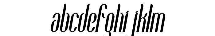 Coco-BoldCondensedItalic Font LOWERCASE