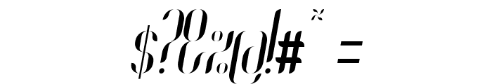 Coco-Italic Font OTHER CHARS