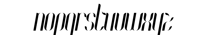 Coco-Italic Font LOWERCASE
