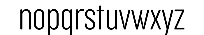Cocogoose Compressed Trial UltraLight Font LOWERCASE