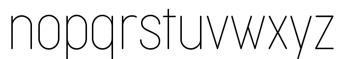 Cocogoose Condensed Trial Thin Font LOWERCASE