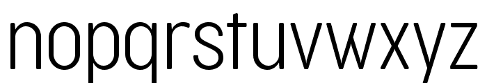Cocogoose Condensed Trial UltraLight Font LOWERCASE