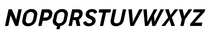 Cocogoose Narrow Trial Semilight Italic Font UPPERCASE