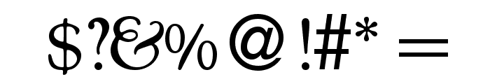 CocosOldDB Normal Font OTHER CHARS