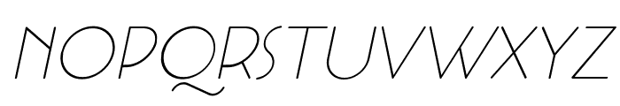 Cocotte Alternate UltLt Ita Font UPPERCASE