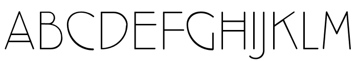 Cocotte UltraLight Font UPPERCASE