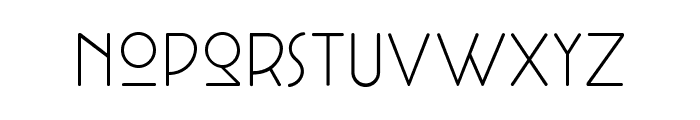 Cocotte UltraLight Font LOWERCASE