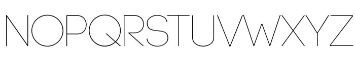 Code-Light Font UPPERCASE