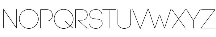 Code-Light Font LOWERCASE
