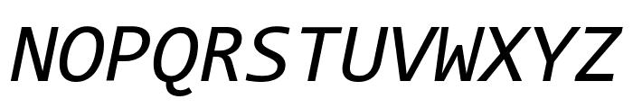 Code New Roman Italic Font UPPERCASE