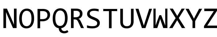 Code New Roman Font UPPERCASE