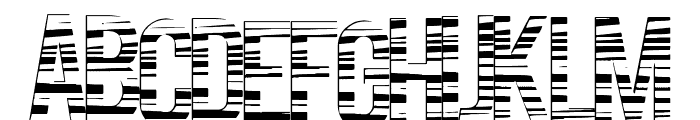 CodeBars Font LOWERCASE