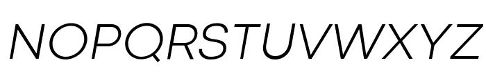 Codec Cold Light Italic Font UPPERCASE