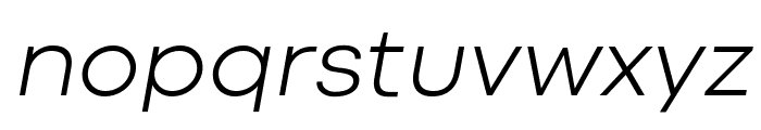 Codec Cold Light Italic Font LOWERCASE