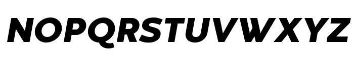 Codec Warm Trial Heavy Italic Font UPPERCASE