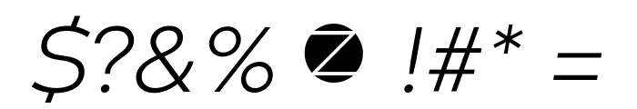 Codec Warm Trial Light Italic Font OTHER CHARS
